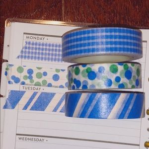 🦋blue washi tape set🦋
